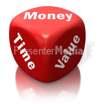 Money Time Value Red Dice Presentation clipart