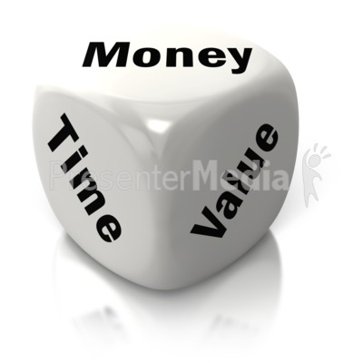 Money Time Value White Dice Presentation clipart