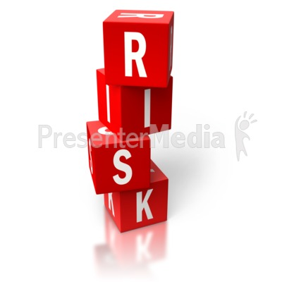 Risk Red Stacked Blocks Presentation clipart