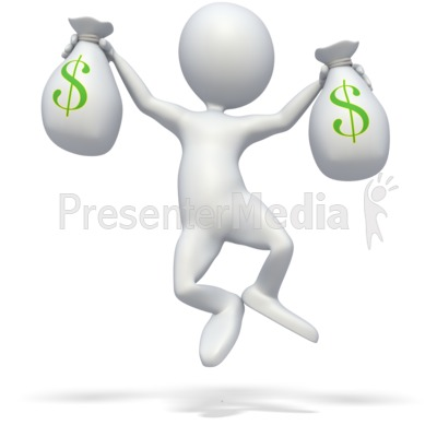 Money Celebration Presentation clipart