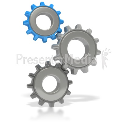 Three Gears Stacked Presentation clipart
