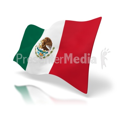 Flag Of Mexico Presentation clipart