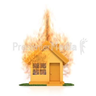 House On Fire  Presentation clipart