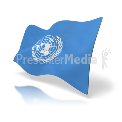 Flag United Nations Presentation clipart