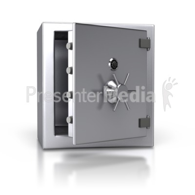 Steel Safe Open Presentation clipart