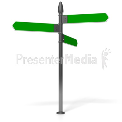 Direction Sign Presentation clipart