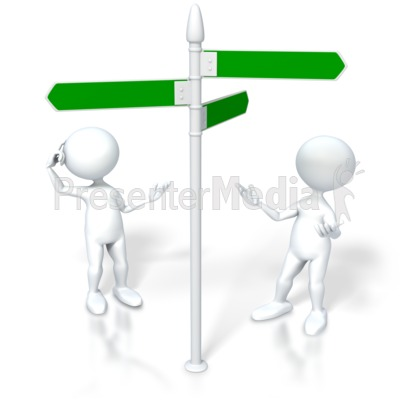 Figures Look Direction Sign Presentation clipart