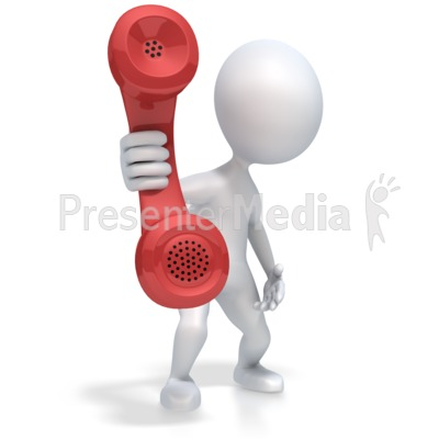 Figure Hold Out Phone Presentation clipart
