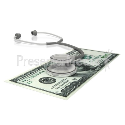 Stethoscope  Money Presentation clipart