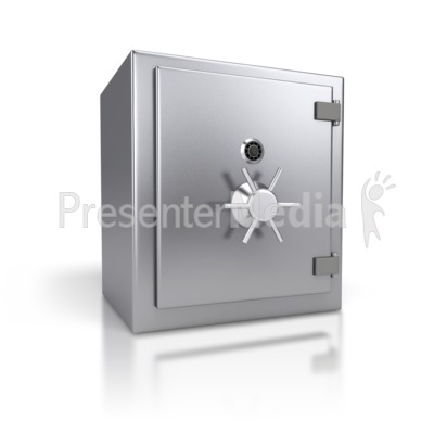 Steel Safe Closed Presentation clipart