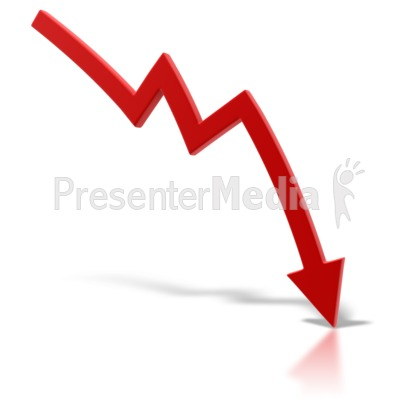 Red Arrow Point Down Presentation clipart