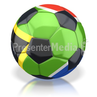 South Africa Soccer Ball  Presentation clipart