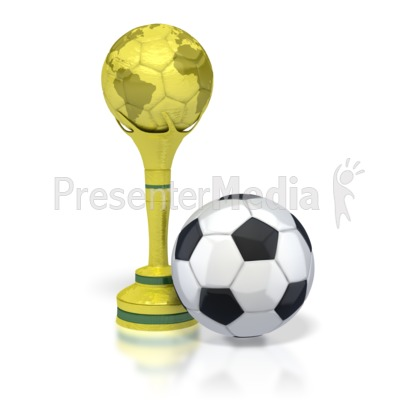 Trophy with Soccer Ball  Presentation clipart