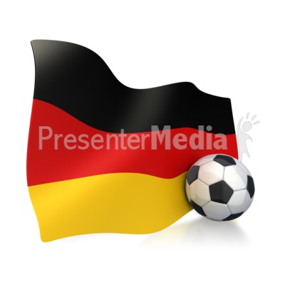 German Flag With Soccer Ball Presentation clipart