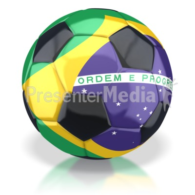Brazil Soccer Ball  Presentation clipart