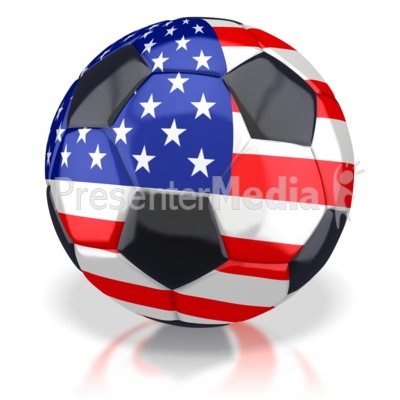 American Soccer Ball  Presentation clipart