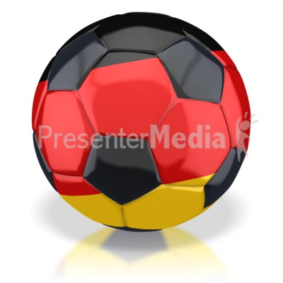 Germany Soccer Ball  Presentation clipart