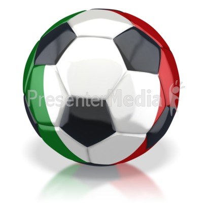 Italy Soccer Ball  Presentation clipart