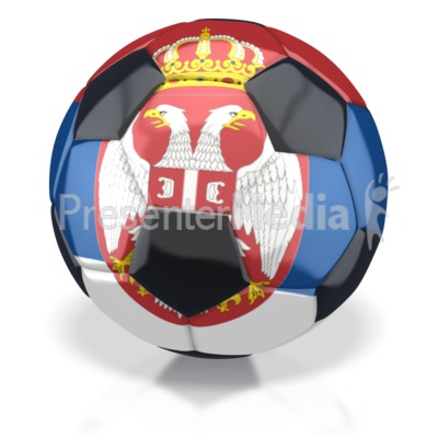 Serbia Soccer Ball  Presentation clipart
