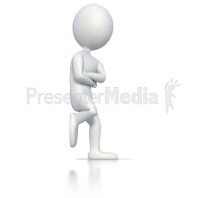 Stick Man Leaning On Wall  Presentation clipart