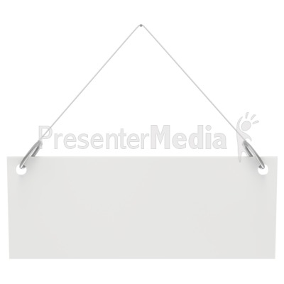 Hanging Blank Sign  Presentation clipart