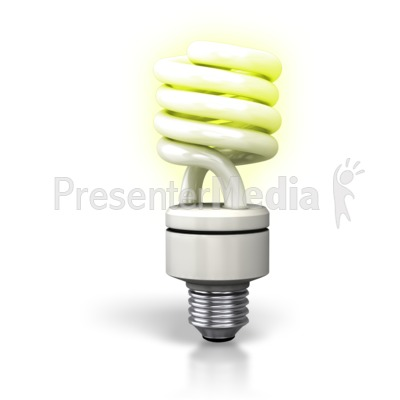 Cfl Light Bulb Lite Up Presentation clipart