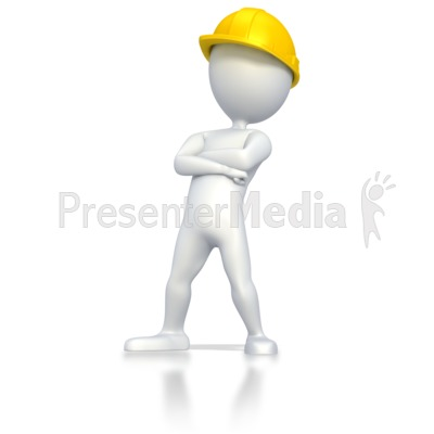 Worker Standing With Arms Crossed  Presentation clipart