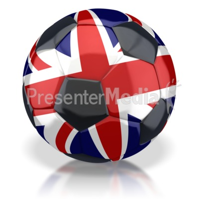 United Kingdom Soccer Ball  Presentation clipart
