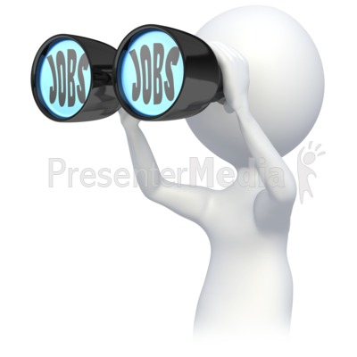 Stick Figure Searching for Jobs Presentation clipart