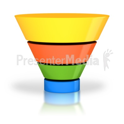 Sales Funnel Four Stage Presentation clipart
