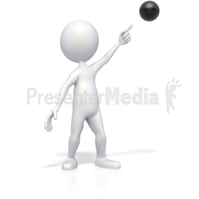 Stick Figure Pointing at Bullet Point Presentation clipart