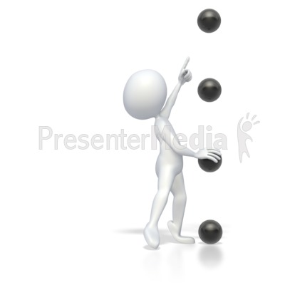 Bullet Point Stick Figure Point High  Presentation clipart