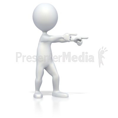 Stick Figure Double Point Presentation clipart