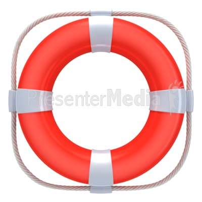 Red Life Buoy Presentation clipart