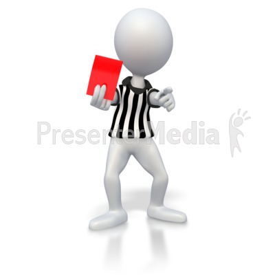 Soccer Referee Red Card  Presentation clipart