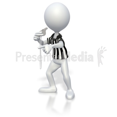Referee Blow Whistle Presentation clipart