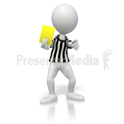 Soccer Referee Yellow Card Presentation clipart