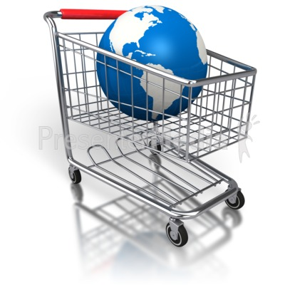 Shopping Cart Global Purchase Presentation clipart