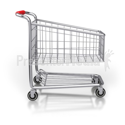 Shopping Cart Side View Presentation clipart