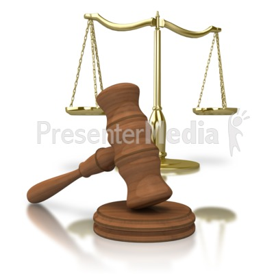 Gavel Scale Of Justice Presentation clipart