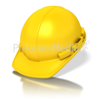 Yellow Construction Hardhat Presentation clipart