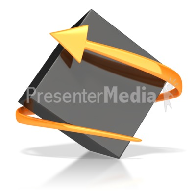 Black Box with Orange Arrow  Presentation clipart