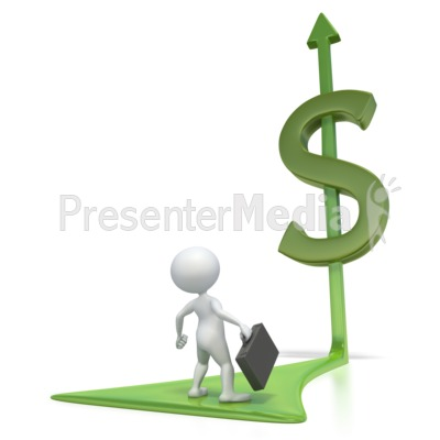 Stick Figre Dollar Arrow  Presentation clipart