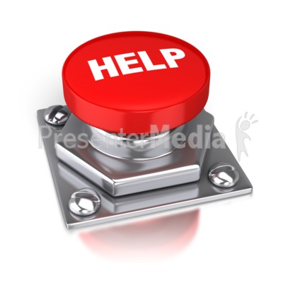 Help Red Button Presentation clipart