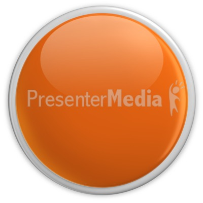 Badge Blank Button Orange Presentation clipart