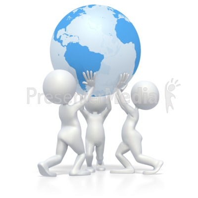 Teamwork Lift Earth  Presentation clipart