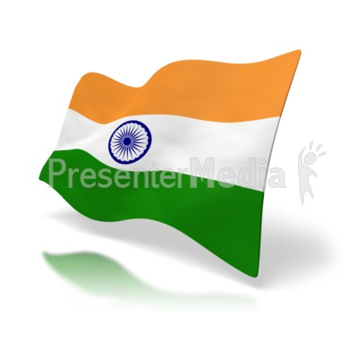 India Flag Perspective Presentation clipart