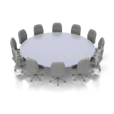 Round Table Conference Presentation clipart