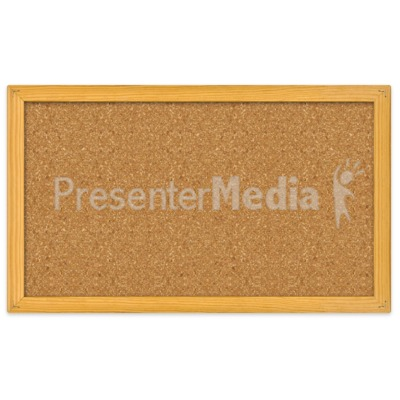 Blank Bulletin Board Presentation clipart