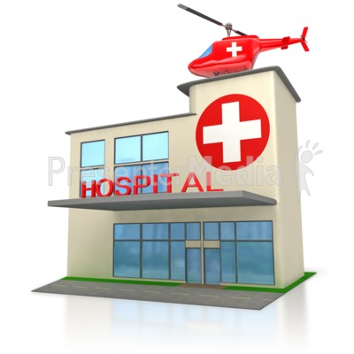 Medical Hospital Building  Presentation clipart